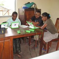 MADA students on OLPC laptops
